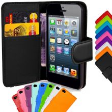 Flip Wallet Leather Case Cover Stand For iPhone 5